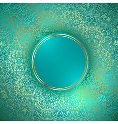 Golden round abstract frame vector