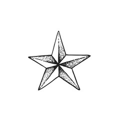 hand drawn star shape vector image vector image