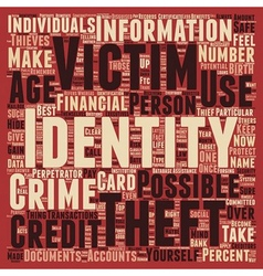 identity theft text background wordcloud concept vector image