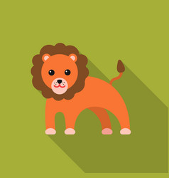 Lion flat icon for web and mobile vector