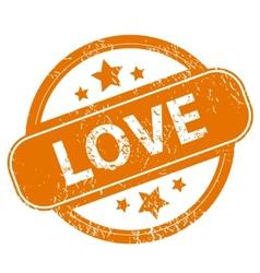 Love grunge icon vector image