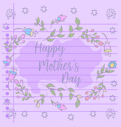Mother day theme greeting card vector