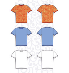 of man tee vector image vector image