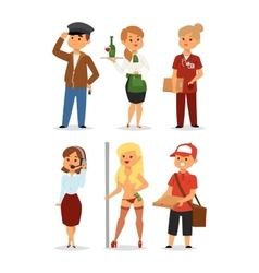 People professions vector image vector image