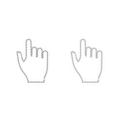 pixel hand grey set icon vector image vector image