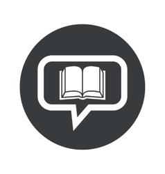 Round dialog book icon vector