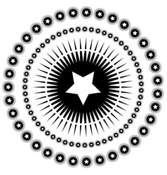 Round ornament pattern mandala vector
