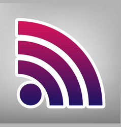 Rss sign purple gradient vector