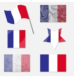 Set with Flags of France vector image vector image