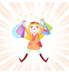 shopping is fun vector image vector image