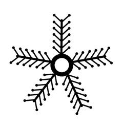 Christmas snowflake isolated icon vector