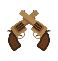 Two guns vector