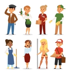 Temporary job professions set vector image