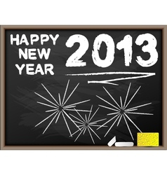 Happy new year 2013 blackboard vector