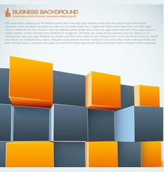 Modern business 3d background vector