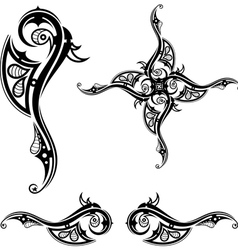 Black Tribal tattoo vector image