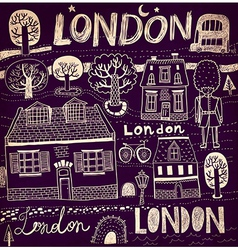 London sketch elements vector image
