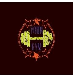 Gym symbol grunge vector
