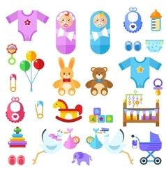 Waiting for a baby all the newborn boy girl stuff vector