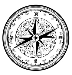 Vintage antique compass vector