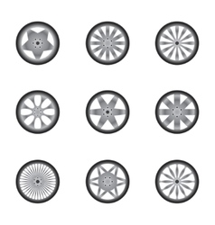 Car wheels isolated on white vector
