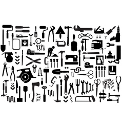 Set retro building tools vector