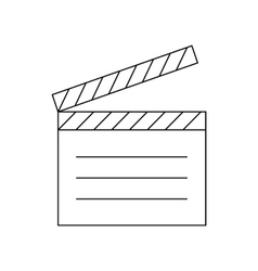 Movie clapper icon outline style vector