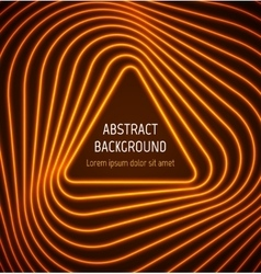 Abstract orange triangle border background with vector