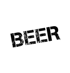 Beer rubber stamp vector
