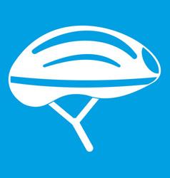 Bicycle helmet icon white vector