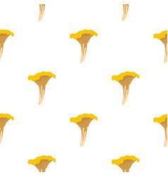 Chanterelle pattern flat vector