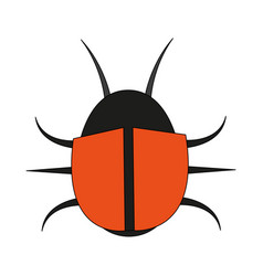 Color image cartoon beetle virus icon vector