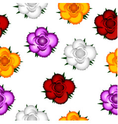 colorful roses seamless pattern background vector image vector image