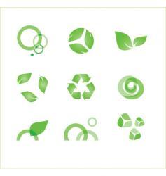 eco symbols vector image vector image