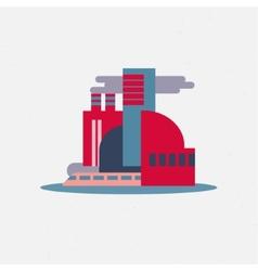 Flat design city icon logo vector