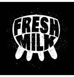 Fresh milk concept vector image