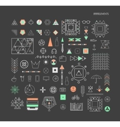 geometric linear shapes vector image vector image