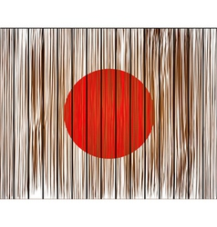 grunge japan flag Eps10 vector image