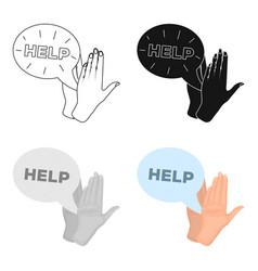 Hands single icon in cartoon stylehands vector