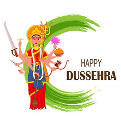 Happy dussehra maa durga on abstract background vector