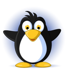 happy little penguin cartoon vector image vector image