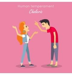 Human temperament concept in flat design vector