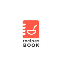 logotype notepad for entriesrecipe book vector image vector image