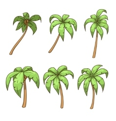 Palm tree set vector