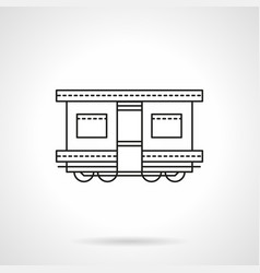 railroad transport flat line icon vector image vector image