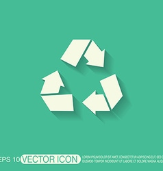 recycle symbol Environmental icon arrow vector image