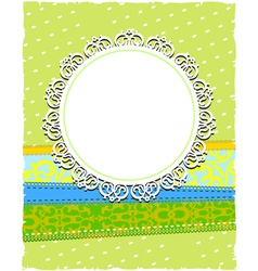 round white ornamental frame vector image vector image