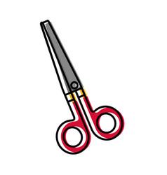 Scissors utensil icon vector