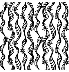 Seamless hand drawn abstract pattern Doodle sketch vector image vector image