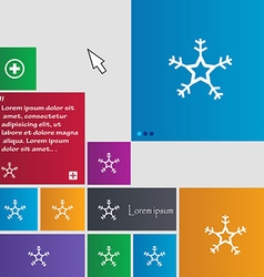 Snow icon sign buttons modern interface website vector